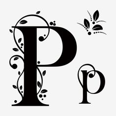 Alphabet Letter P Upper And Lower Case With Ornaments Vintage Graffiti Lettering Fonts, Hand Lettering Fonts, Vintage Lettering, English Alphabets With Pictures, Alphabet Pictures, P Alphabet, Alphabet Design, Letter Photography, Calligraphy Drawing