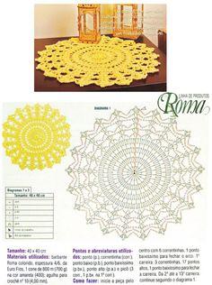 Materiais Utilizados para o centro de mesa ACIMA: Fio Barroco Multicolor, da Círculo, espessura 4/6 (400g), 1 novelo na cor: bege-claro (9900); fio Barroco Multicolor, da Círculo, espessura …