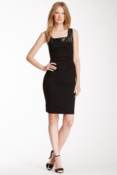 Kenneth Cole Valentina Faux Leather Trim Dress by Kenneth Cole New York. Taille