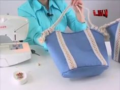 DIY - Bolso en Tela By María Fernanda Hand made Tote / Bags / Purses / Handbags / Wallet ) Craft Tutorials, Video Tutorials, New Bag, Bag Making, Purses And Handbags, Tote Bags, Hands, Brand New, Wallet
