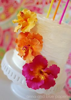 34 Best Hibiscus Cake Images In 2014 Birthday Cakes Hawaii Cake