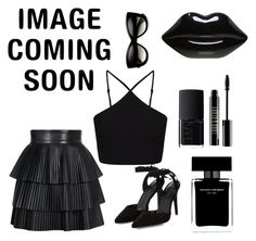 BLACK is BACK by inger-malmgaard-petersen on Polyvore featuring polyvore fashion style Miss Selfridge Balmain BCBGeneration Lulu Guinness Lord & Berry Narciso Rodriguez NARS Cosmetics clothing black hot image