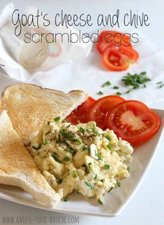 Goat's cheese and chive scrambled eggs - Vegetarian & Vegan Recipes ...