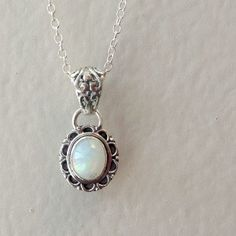Opal Necklace Opal Jewelry Sterling Silver...I love this!