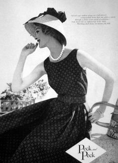 Fashion by Peck and Peck, Mademoiselle, 1959.