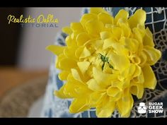 Dahlia Sugar Flower  Gumpaste Tutorial - YouTube