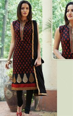 Chic Navy Blue Color Good Looking Salwar Kameez