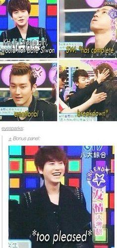 Yaaaaaaaaaaaa kyuhyunaaaaaa how could u do that for Siwon oppa??!