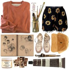 Untitled #94 by thatgirlacrossthestreet on Polyvore featuring Converse, Gathering Eye and Burt's Bees