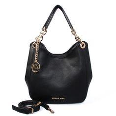 4eeca828b89a0 Michael Kors Fulton Large Leather Shoulder Bag (big)Black Michael Kors  Sale