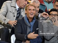 Roberto Mancini attends the Serie A match between...