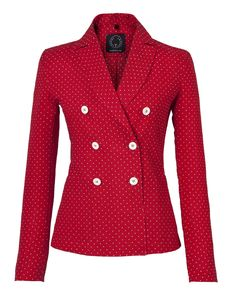 """T-Jacket SS 2016 double-breasted """"Cherry Dots"""". Discover the new collection on www.tonello.net"""