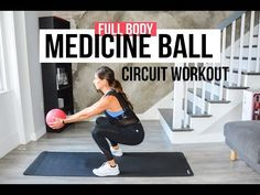 10 or Medicine Ball Interval Circuit Workout (Full Body) - Unique Exercise Triathlon, Medicine Ball Abs, Medicine Ball Exercises, Full Body Circuit Workout, Dumbbell Workout, Cardio Training, Killer Workouts, 10 Minute Workout, Travel Workout