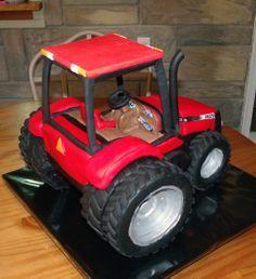 Tractor Cakes For Boys  3D Case Cake WOW cakepins.com