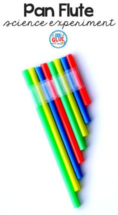 Make a straw pan flute using a few drinking straws and tape. This is the perfect activity to accompany a lesson on sound, five senses, or music. Simple crafts are so much fun with kindergarteners. This is a great rainbow craft too! #STEM #crafts #rainbow via @dabofgluewilldo