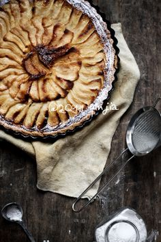 Tarte aux pommes, the French apple tart. If you haven't tried: you should. It's delicious :)