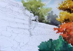 [풍경수채화] 고궁의 가을 (공생) - 수채화 과정 : 네이버 블로그 Snow, Abstract, Artwork, Painting, Outdoor, Watercolor Painting, Summary, Outdoors, Work Of Art