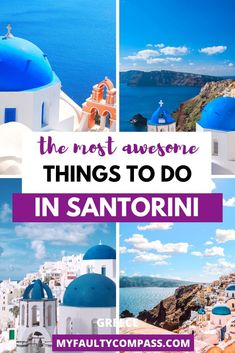 Whitewashed buildings, the incredibly beautiful caldera, thousands of years old fascinating history, and fantastic food - the volcanic island of Santorini is one of the best places to visit in Greece. Here's my list of the most amazing things to do in Santorini to soak in the beauty & culture of the island! Things to do in Santorini | Places to visit in Santorini | Greece bucket list | Guide to Santorini | Santorini photo spots | Places to visit in Greece | #myfaultycompass #Santorini #Greece