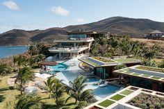 Best Sunset, Richard Branson, British Virgin Islands, Caribbean Sea, Outdoor Areas, Great View, Vacation, Around The Worlds, Mansions