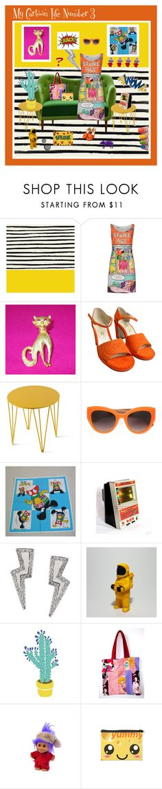 """""""My Cartoon Life Number 3"""" by anna-ragland on Polyvore featuring Leah Flores, Moschino Cheap & Chic, Chanel, Atipico, Dolce&Gabbana, Tessa Packard, ADZif, Areaware and vintage"""