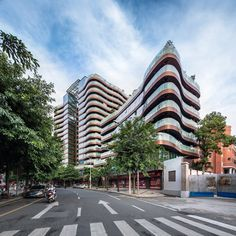 NEXT Architects creates rippled facade for Fuzhou apartment block