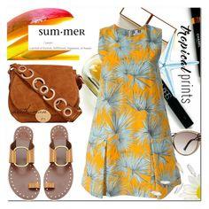 """Tropical Summer"" by arethaman ❤ liked on Polyvore featuring Tory Burch, Maryam Keyhani, Roland Mouret, Foley + Corinna, MSGM, summerdress, tropicalprints, palmtreeprint, summer2016 and hottropics"