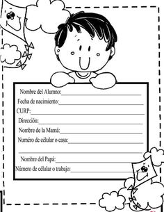 Primero basico Beginning Of School, Pre School, Teacher Forms, Spanish Projects, English Activities, Class Decoration, Writing Paper, Childhood Education, Happy Kids