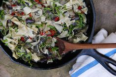 Francis Lam's Eggplant Sauce with Pasta and Seasonal Herbs
