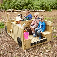 Outdoor Wooden Role Play Truck Volvo Pickups have their own home office throughout Sweden and Kids Outdoor Play, Outdoor Play Areas, Kids Play Area, Outdoor Toys, Outdoor Fun, Outdoor Games, Kids Backyard Playground, Backyard For Kids, Pallet Playground