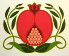 Pomegranate Giclee Print by CindyLindgren on Etsy