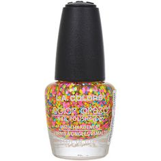 Vivid-color sparkles make nails fun and fabulous! Add a little interest to your look with this clear nail polish filled with various colored sparkles perfect for any outfit. Plus, unique hardeners hel
