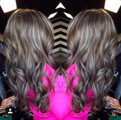 Ash blonde highlights with ash brown lowlights