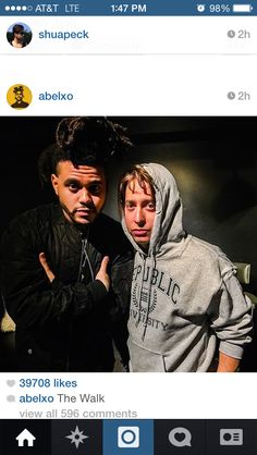 The Weeknd and Charlie Walk