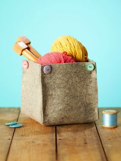 DIY storage ideas: How to make a wool felt storage bin
