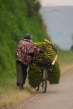 Africa Sights and Sounds. On the road from Mbarara to Kabale, Uganda We Are The World, People Around The World, Wonders Of The World, Around The Worlds, Bananas, Banana Man, Out Of Africa, East Africa, African Culture