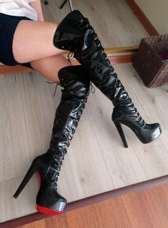 {Select a superb variety of ladies joint substantially high the company, look around terrorist, pour, using boots and even more. Thigh High Boots, High Heel Boots, Heeled Boots, High Heels, Winter Boots Outfits, Outfit Winter, Military Fashion, Military Style, Over The Knee Boot Outfit