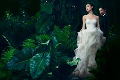 Smile: AD CAMPAIGN: Vera Wang Spring/Summer 2013: Shu Pei & David Chiang (RTW & Birdal)
