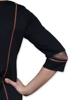 Sukienka Avatar - sukienka z najnowszej technologii druku 3D, zbliżenie tył.
