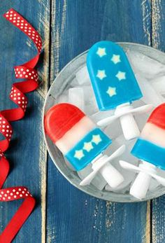 great patriotic pops! easy to do with a Zoku!
