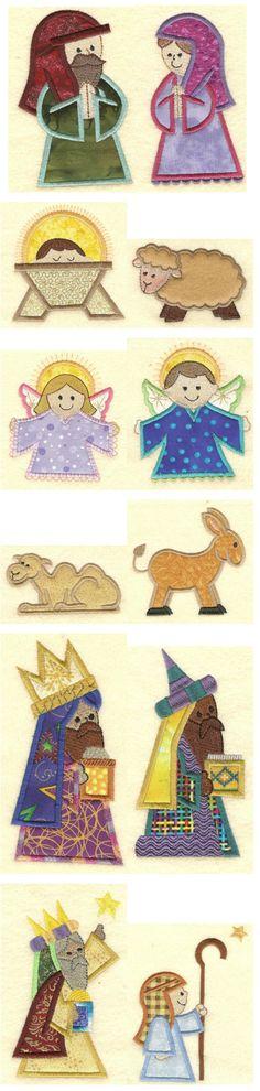 Embroidery Designs | Free Machine Embroidery Designs | Nativity Applique