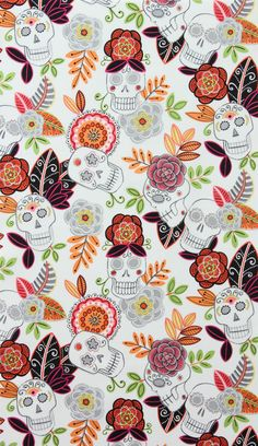 Another Day of the Dead-inspired print. Thanks, Alexander Henry!