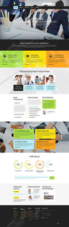 A unique business WordPress Theme