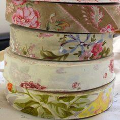 10 Metres 38mm Cotton Floral Bias Binding Tape Trim Pink Flower Rose Wine Yellow