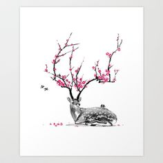 (have the natural shirt of this from threadless :D) Blooming Art Print by TJ Zhang