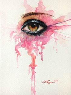 Art, beautiful, and draw bild beauty illustration, eye art, watercolour pai Watercolor Eyes, Watercolor Paintings, Watercolors, Beauty Illustration, Portraits, Deviant Art, Eye Art, Art Plastique, Art Sketchbook