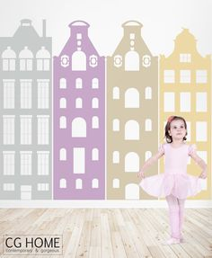 giant HOUSES big STREET Amsterdam House wall decal MODERN vinyl sticker architecture by CGhome on Etsy https://www.etsy.com/listing/266926788/giant-houses-big-street-amsterdam-house