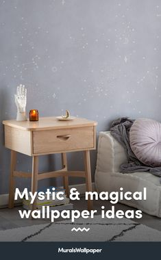 Styling your space with new spiritual decor and magical accessories? This collection of witchy wallpapers with tips and ideas for a chilled-out aesthetic will provide some bewitching inspiration for your own mystical room. Witchy Wallpaper, Forest Wallpaper, Daybed In Living Room, Childrens Shop, Meditation Corner, World Map Wallpaper, Spiritual Decor, Crystal Decor, Fashion Room