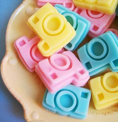 This fun soap is made with moisturizing ingredients. Each one has a sweet cotton candy scent added. These camera soaps would make a great gift or even something special for yourself! If you have any q