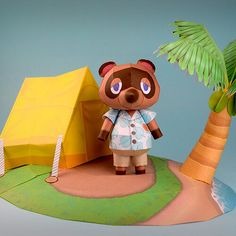 Animal Crossing: New Horizons Diorama — Paper Duplicator Animal Crossing Characters, Animal Crossing Game, Paper Toys, Paper Crafts, Diy For Kids, Crafts For Kids, Paper Cube, Decor Crafts, Diy Crafts