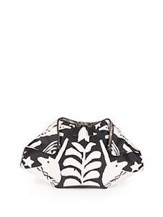 Alexander McQueen - Naive Pegan Print Small De Manta Clutch